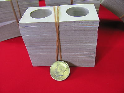 "100- HALF DOLLAR Sized- 2X2 ""COWENS"" -Cardboard/Mylar Coin Holders-"