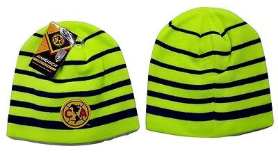 9c462f09280 Club America FC Fitted Beanie Winter Hat Cap New W Tags OSFM K1A22 Neon  Yellow