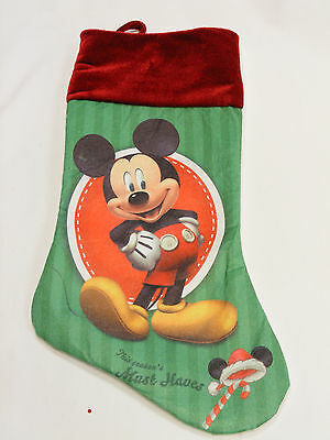 Official Licensed Disney Mickey Mouse Felt Christmas Holiday Xmas Stocking