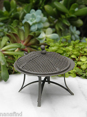 Miniature Dollhouse FAIRY GARDEN ~ Rustic Metal Firepit Fire Pit ~ NEW