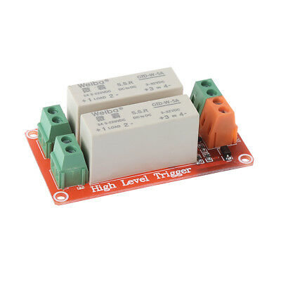 New 2 Channel SSR Solid State Relay High-low trigger 5A 5v12v For Arduino Uno R3