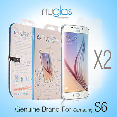 2X Genuine NUGLAS Tempered Glass Screen Protector for Samsung Galaxy S6