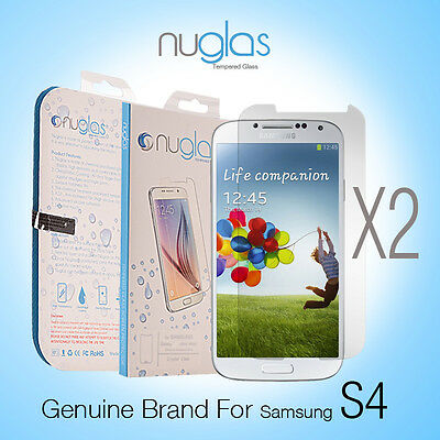 2X Genuine NUGLAS Tempered Glass Screen Protector for Samsung Galaxy S4