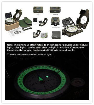 Professional Military Army Sighting Luminous Compass with Inclinometer OK