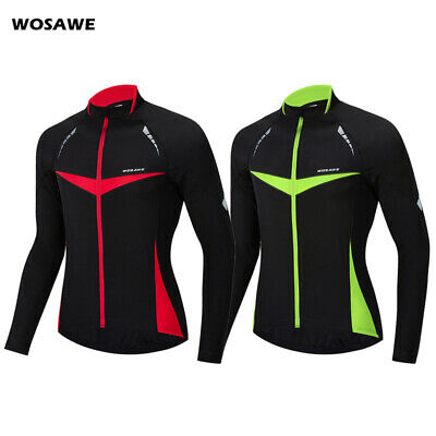 Mens Cycling Jacket Water Resistant High Visibility Running Top Wind Coat S~2XL
