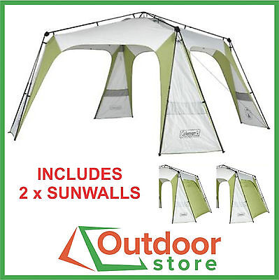 Coleman Event 14 Instant-Up Shelter plus 2 x Sunwalls - FREE to Mel, Syd, & Adel
