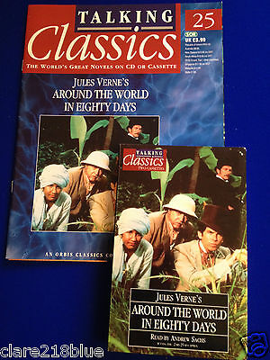 Talking Book Classic 2 Cassette Mag Jules Verne Around the World in Eighty Days
