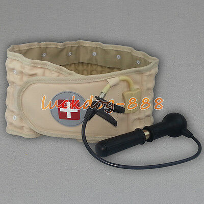 Lumbar Support Decompression Therapy Belt Physio Back Brace Spinal Pain Relief