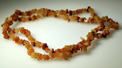34 inch Strand of Natural Orange Agate Chip Beads, Beatiful quality