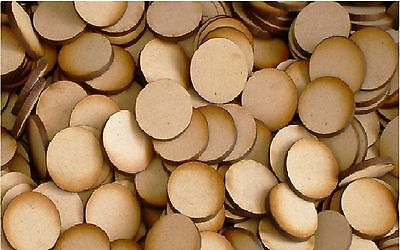 MDF Wooden Disk Circle Shape 3mmThick Wood Base Shapes