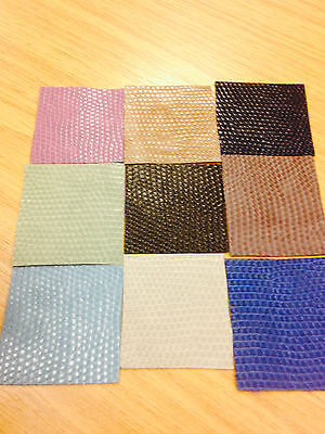 Faux Leather/Leatherette/Snake skin/Reptile/PVC/Lizard patterned fabric material