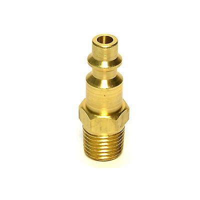 "1/4"" NPT Pneumatic Air Compressor Brass Male Quick Connect Fitting Coupler Plug"
