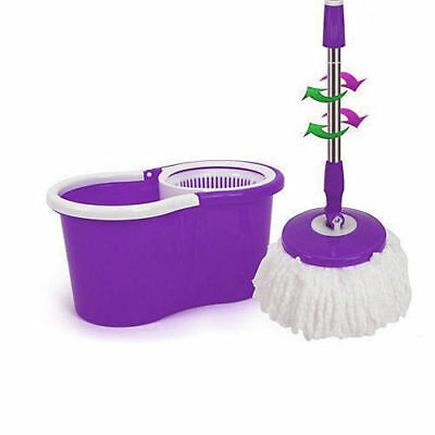 Microfiber Spining Magic Spin Mop W/Bucket 3 Heads Rotating 360° easy floor mop