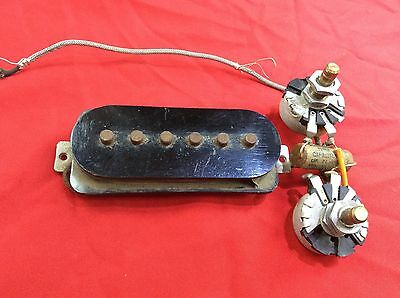 VINTAGE 1948 USA GIBSON LAP STEEL GUITAR PICKUP w WIRING HARNESS IRC POTS 1949