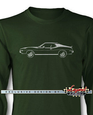 AMC AMX 1973 - 1974 Coupe Long Sleeves T-Shirt  Multiple Colors & Sizes American
