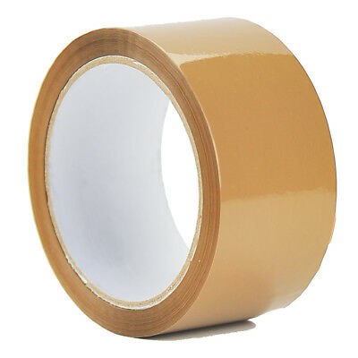 ROLLS OF BUFF BROWN PACKAGING PARCEL TAPE 50mm x 50m  BOX SEALING SELLOTAPE