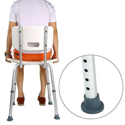 Aluminium Shower Seat Stool Chair Adjustable Height Mobility Disability Aid SA