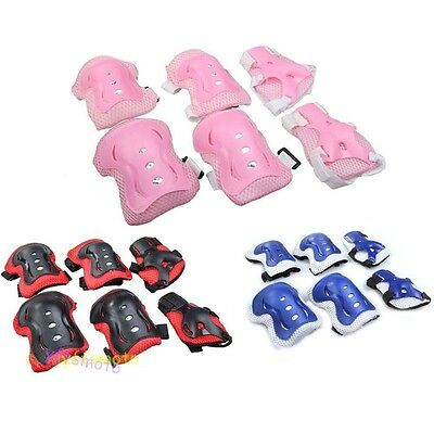 Children Kids Cycling Roller Ski Skate Skating KNEE ELBOW WRIST Safety Gear Pads