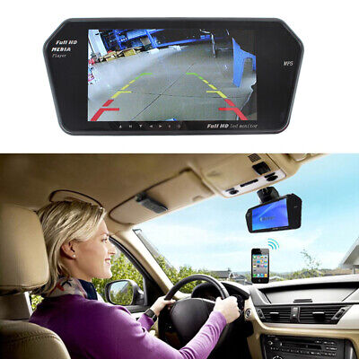 7'' TFT LCD Car Rear View Wireless Bluetooth MP5 Mirror Monitor Support SD USB