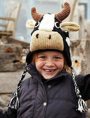 Cow Animal Hat / Mittens - HANDMADE by Pachamama - one size (3-7 years)
