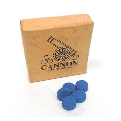 Cannon Blue Velvet Snooker or Pool Cue Tips - Various Sizes and Quantities