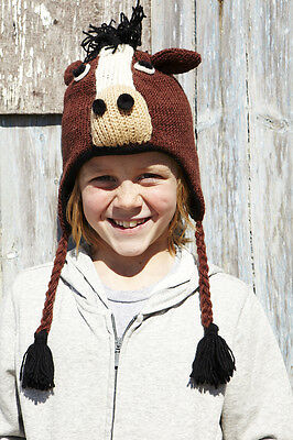 Horse Animal Hat / Mittens - HANDMADE by Pachamama - one size (3-7 years)