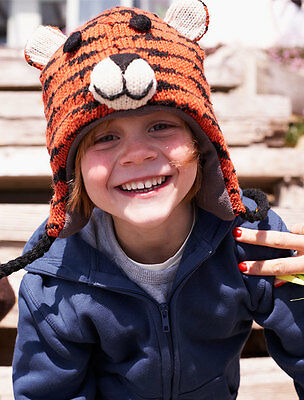 Tiger Animal Hat / Mittens - HANDMADE by Pachamama - one size (3-7 years)