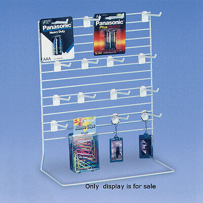 Small Peg Countertop Display with 9 Peg Hooks 8 in. w x 6 in. d x 11 in. h