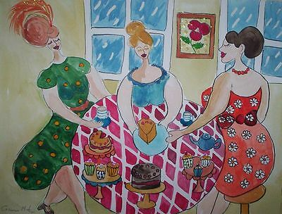 "Fridge Magnet, Quirky 'More cake Ladies?'  Large 4.25"" by 5.5"""