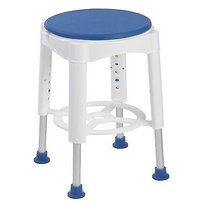 Deluxe Bath Shower Stool with swivel padded Seat Adjustable Height
