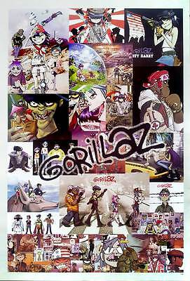 "GORILLAZ (1998-Now) POSTER 23""x34"" Alternative Rock Hip Hop Cartoon Music MIX"