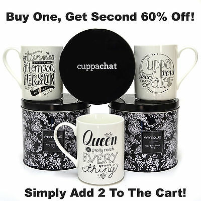 Coffee Mugs Cuppachat Funny Christmas Gift Xmas Novelty Ceramic Porcelain Cups