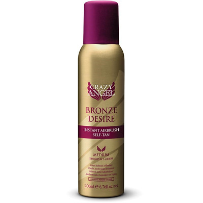 Crazy Angel Bronze Desire Instant Airbrush Self Tan for Medium Glow 200ml