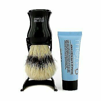Men-U Barbiere Black Shave Brush and Stand with Free Shave Creme Tube 15ml