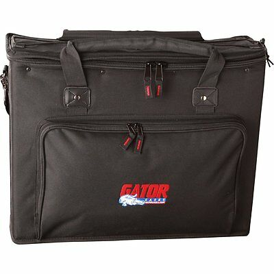 Gator GRB-2U Padded Gig Bag w/ 2 Rack Spaces for FX Processors Amp Heads & More