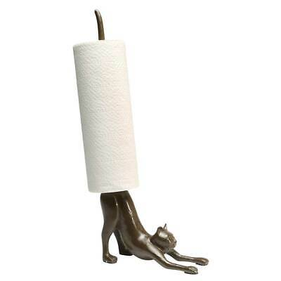 Exclusive Cast Iron Stretching Cat Yoga Paper Towel Holder - Kitchen Decor