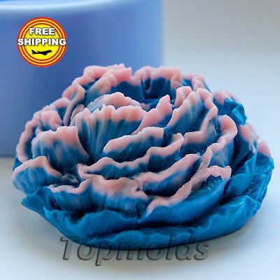 Peony Food-grade silicone soap Mold Silicone Mold Free Shipping