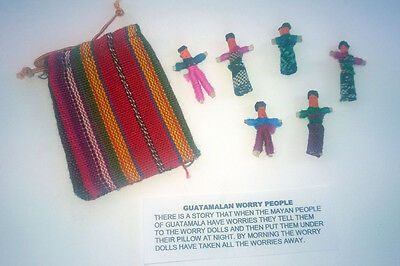 1Fair Trade Guatamalan Worry Dolls in Pouch