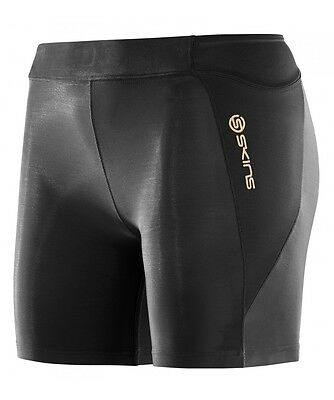 Skins A400 Womens Compression Shorts (Black / Black)
