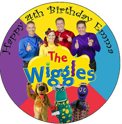 Wiggles Personalised Round Edible ICING Cake Topper Party Decoration