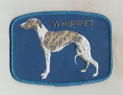 EMBROIDERED SEW ON DOG PATCHES  WHIPPET * Size 10cm x 7.5cm
