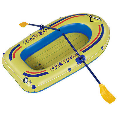 Oztrail Ozspray 2 Person Inflatable Boat (Includes Oars) Blow Up