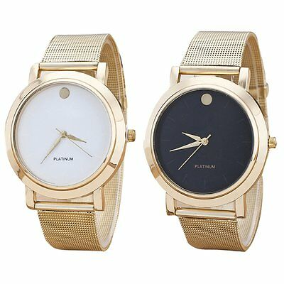 Fashion Classic Women's Lady Quartz Analog Wrist Watch Bracelet Stainless Steel