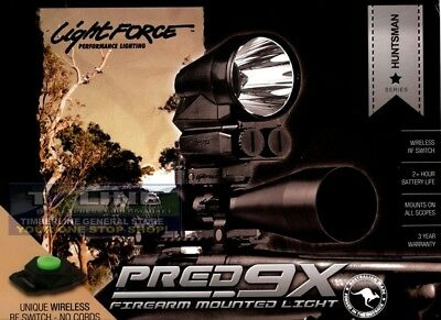 Lightforce Huntsman PRED9X LED Firearm Mounted Light with RF wireless Switch