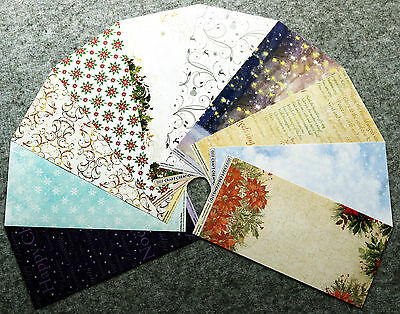 "PAPERS 10 SHEETS 6"" x 12""  CHRISTMAS THEME CARDMAKING SCRAPBOOKING (Assort. 3)"