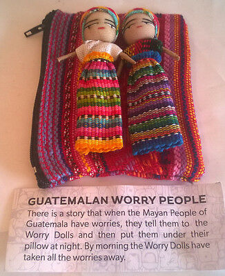 Extra Large  2 Worry Doll(8cms) Set in purse