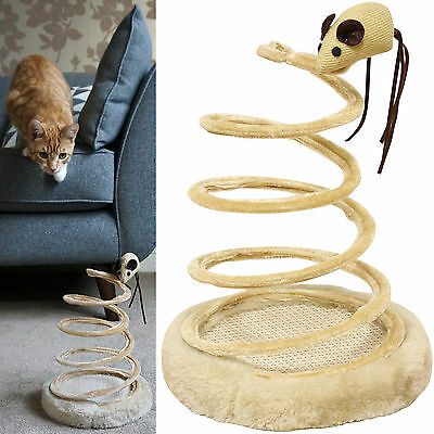 Me & My Pet Spiral Cat/kitten Toy & Claw Scratcher Interactive/spring Play Mouse