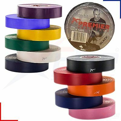 PST Premier FA Football Hockey Rugby Shin Pad Sock Tape 19mm x 33m Roll