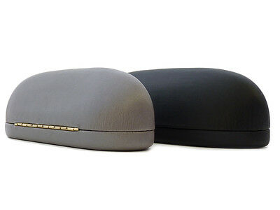 Ladies / Mens Domed Glasses Case For Rimless / Small Spectacles Black / Grey