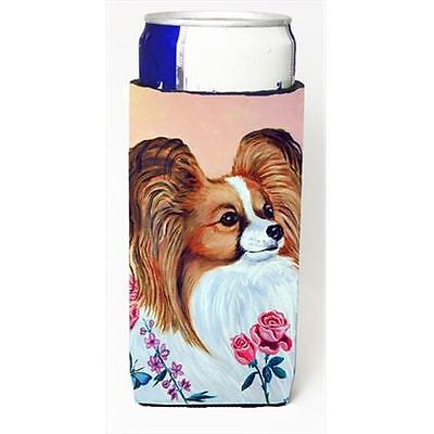 Carolines Treasures 7237MUK Papillon Michelob Ultra bottle sleeves For Slim Cans